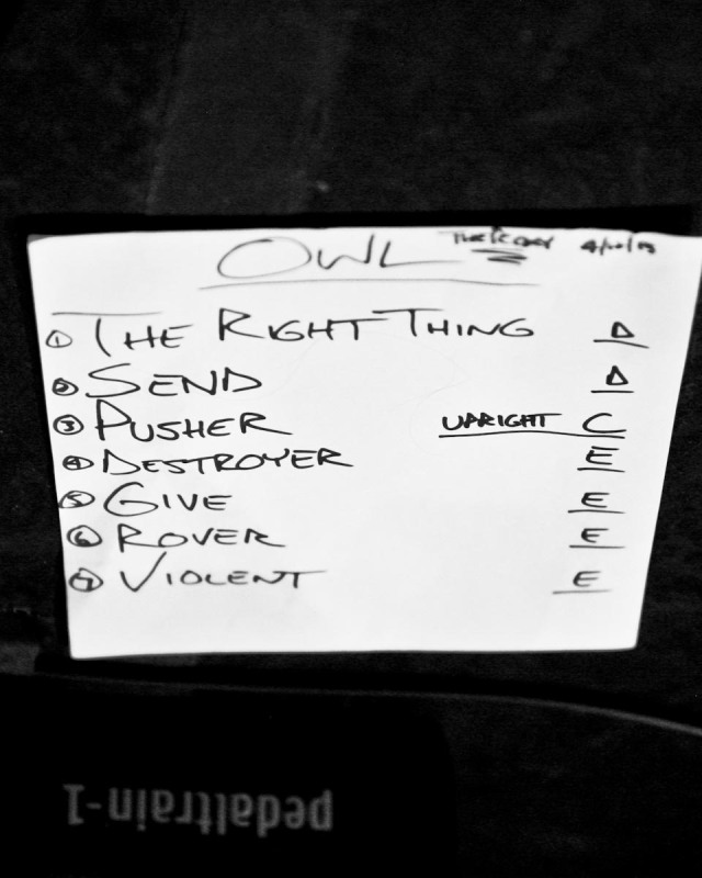 Owl setlist 4/12/13 The Roxy in West Hollywood, CA