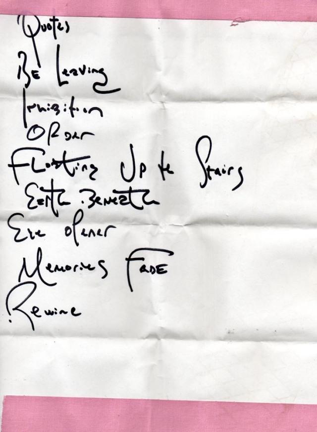 Dot Hacker setlist 6/16/13