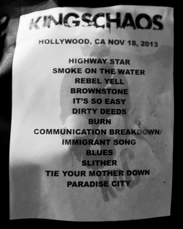 KOC Set List 11/18/13