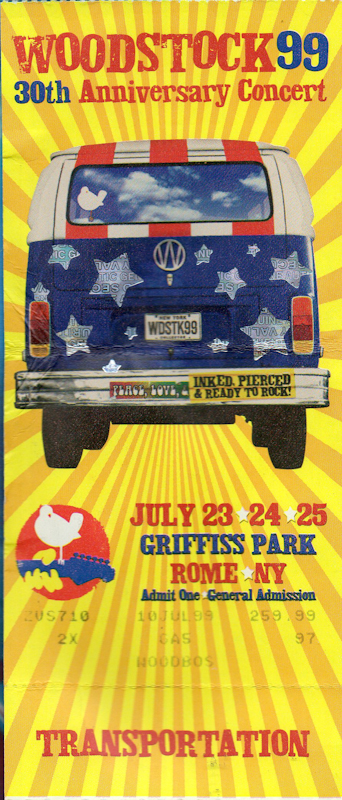 Woodstock '99 ticket