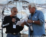 Oliver Shokouh and Jay Leno at Love Ride 31 for MDA. Castaic Lake, CA 10-25-14