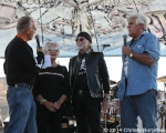 Oliver Shokouh, the Davidsons and Jay Leno at Love Ride 31 for MDA. Castaic Lake, CA 10-25-14