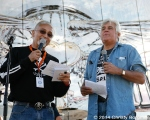 Oliver Shokouh, founder of the Love Ride and owner of Glendale Harley Davidson and Jay Leno at Love Ride 31 for MDA. Castaic Lake, CA 10-25-14