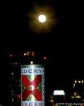 Lucky Lager and the full moon