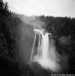 The Great Northern and waterfall (Salish Lodge and Snoqualmie Falls)
