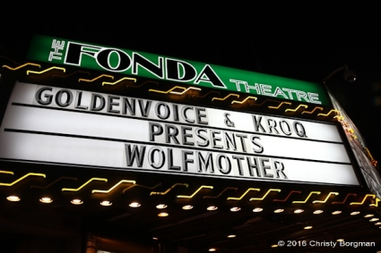Wolfmother, Fonda Theatre, 3/26/2016